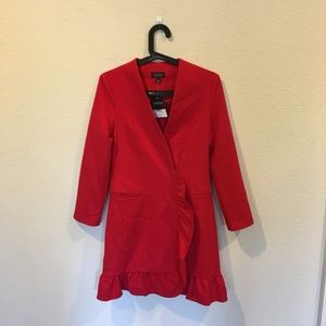 Topshop Dresses - NWT Topshop frill hem blazer dress